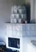 Fehér szemeskályha nagy üveges ajtóval (Kővágóörs)