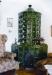 Polgári ízű, sarokba épített cserépkályha (Budapest - Csillaghegy)